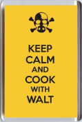 KEEP CALM AND COOK WITH WALT fridge magnet from our KEEP CALM and CARRY ON range. A unique Birthday or Christmas stocking filler gift idea for a fan of the Breaking Bad TV series!