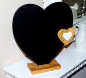 Heart Shape Chic & Shabby Style Small Chalkboard / Blackboard / Memo Board.