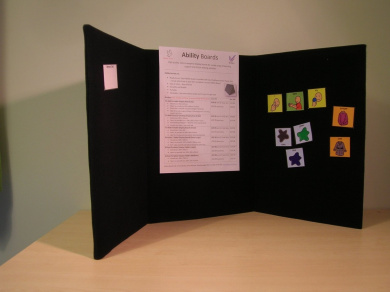 Portable Display Board or Memo Board - Tri-fold (A3) - for home, school, office, exhibition and conference