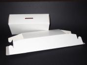 Money Box - Self Assembly Flat Pack Pre-glued White Cardboard x 5