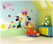 Sumlake Nursery Cartoon Mickey And Minnie Love Balloon Homes Wall Art Stickers Decal for Home Room Decor Decoration