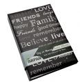 Arpan Large Text Design 6x4 Black Photo Album Slip In Case Memo Album For 300 Photos