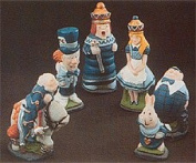 Make Your Own Chess Sets With These 9 x Supercast Alice in Wonderland Chess set latex moulds