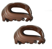 Twinkle Lovely Curves Nylon Jaw Hair Clip with Application (Set of 2