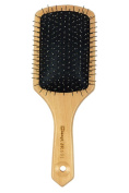Natural Wooden Massage Hair Brush,Cushion, Stainless Steel Metal Bristles With,Large Square Paddle Brushes