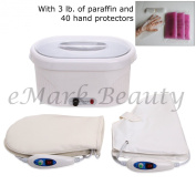 eMark Beauty Paraffin Bath Wax Warmer Heater with Gloves and Wax TLC-5009GW