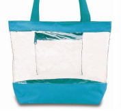 Medium Clear Tote Bag with Zipper Closure