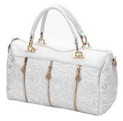 JOVANAS FASHION Ladies Retro Vintage Lace Flower Tote Handbags Shoulder Bag Purse