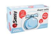 Sassy Disposable Nappy Sacks, Scented - 200 ct - 3 pack