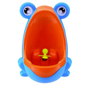 Engaging & Fun - Colourful Frog Boys Potty Training Urinal with Whirling Target - Making It Fun, Easy Stress Free to Potty Train a Boy