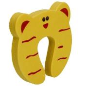 Gaorui 5 PCs Child kids Baby Animal Cartoon Jammers Stop Door stopper holder lock Safety Guard Finger Protect_Yellow tiger