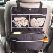 Rumbi Baby Insulated Portable Stroller Bag And Backseat Organiser Keeps Drinks Cool With A LifeLong Promise. Black And Grey.