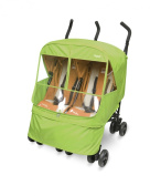 Manito Elegance Alpha Twin Stroller Weather Shield / Rain Cover - Green