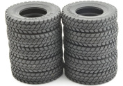 12x 1/14 Billet Truck Rear & Front Tyres Set (12) for Tamiya 1/14 Tractor Truck