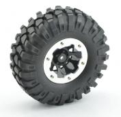"Rc Axial Scx10 Rc4wd Tamiya Rock Crawler 1.9"" Beadlocks Wheels & Tyres (4) 108mm"
