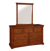 Bolton Furniture 862070700 Cambridge 7-Drawer Dresser with Mirror Set, Chestnut