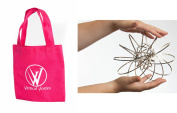 Vertical Vortex Spring with PINK Carry Bag Travelling Interactive Kinetic Toy