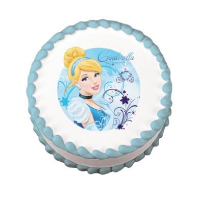 Disney Princess Cinderella Edible Cake Image Topper