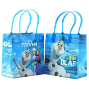 "Disney Frozen "" I am Olaf "" Premium Quality Party Favour Reusable Goodie Small Gift Bags 12"