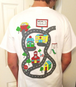 Dad's DadVille Car Track Play Shirt for Men - Gift Set with 2 Toy Cars