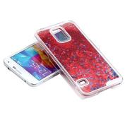Samsung S5 Case-Aurora® 3D Bling Quickland Trasparent Plastic Slim Glitter Star Flowing Liquid Hard Case Cover for Samsung Galaxy S5 i9600