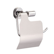 Bathroom Toilet Paper Holder With Cover Stainless Steel Polished Chrome Wall Mount