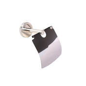 Toilet Paper Holder With Cover Stainless Steel Bathroom Wall Mount