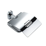 Bathroom Stainless Steel Toilet Paper Holder With Cover Style Wall Mount