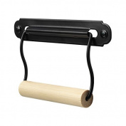 Bathroom Steel Wood Toilet Paper Holder Wall Mount