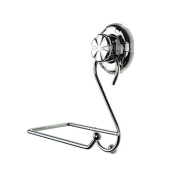 Stainless Steel Chrome Toilet Paper Holder Suction Cup S Shape Wall Mount