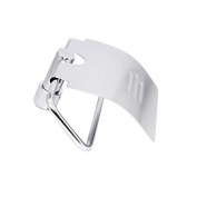 Bathroom Aluminium Toilet Paper Holder With Cover Style Wall Mount