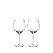 Lalique 100 Points Burgundy Glass Set Of 2