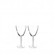 Lalique Louvre Box Of 2 Wine Glasses