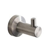 MARMOLUX ACC Lawrel Series 11935-BN Bathroom Robe Hook, Stainless Steel Brushed