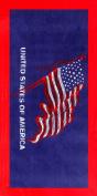Classic american USA flag velour brazilian beach towel 80cm x 150cm