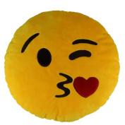 Emoji Smiley Emoticon Yellow Round Cushion Pillow Stuffed Plush Soft Toy