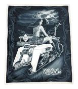 DGA Ride or Die High Defenition Super Soft Plush Micro Sherpa Blanket 130cm x 150cm - Dead End