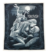 DGA Ride or Die High Defenition Super Soft Plush Micro Sherpa Blanket 130cm x 150cm - Lovers