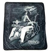 DGA Ride Or Die Dead End High Defenition Super Soft Plush Polar Fleece Blanket 130cm x 150cm