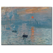 Trademark Fine Art Impression Sunrise by Claude Monet Canvas Wall Art, 36cm x 48cm