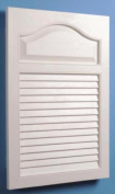 Jensen 615 Basic Louvre Grained Wood Look Polystyrene Recessed Medicine Cabinet, White
