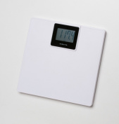 MediChoice Digital Bathroom Scale, 200kg Capacity, Auto Step-on Activation, Large Weighing Platform, Wide LCD Screen, 33cm x 32cm , White