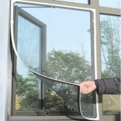 White Insect Mosquito Door Window Mesh Screen Sticky hook and loop Tape Net By BoatShop