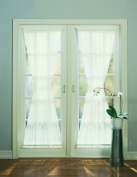 No. 918 Emily Sheer Voile Curtain Door Panel, 150cm by 180cm , Eggshell