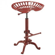 Carolina Cottage Adjustable Colton Tractor Seat Stool, Red