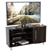 Inval MTV-8619 Curved Front Flat-Screen TV Stand, 130cm , Espresso-Wengue