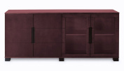 Hayes Modern Cabinet - Mahogany with Glass Doors