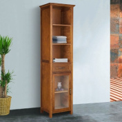 The Oak-finish Linen Tower Bathroom Storage Cabinet with Doors! Your Clothing From Theses Wood Storage Cabinets Can Be Organised! These Corner Storage Cabinets Can Be Spacious to Make Room in Your Bathroom or Bedroom in Your Home. Satisfied!