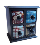 Captivating Outdoors Lodge 4 Drawer Jewellery Holder Apothecary Chest