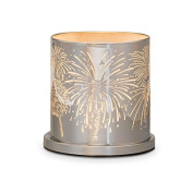 PartyLite Enchanted Celebration Candle Holder With Fireworks Etched Display